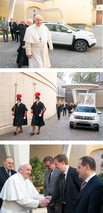 <h3>Ciel, un Duster au Vatican ! </h3>