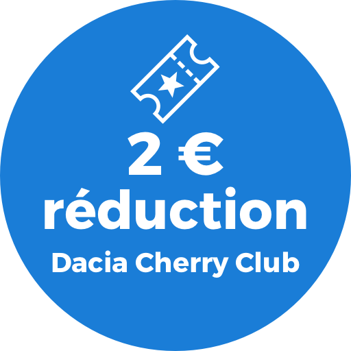 1 € réduction Dacia Cherry Club